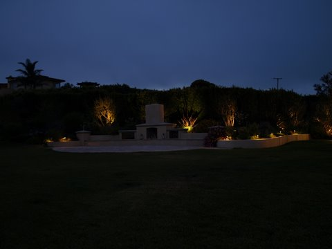 Agoura Landscape Lighting Patio Area