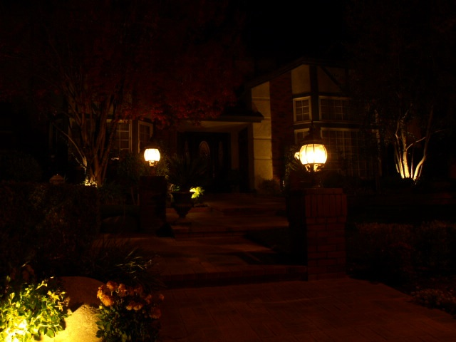 Agoura Landscape Lighting Entrance